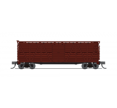 Broadway Limited #6589 K7A Stock Car Unlettered Boxcar Red Hog Sounds