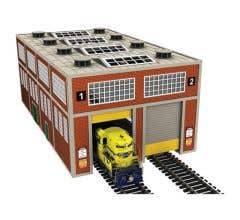 Bachmann #39119 Dual Stall Modern Engine House with Motorized Doors