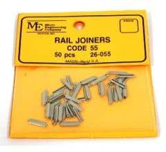 Micro Engineering #26-055 Rail Joiners, Slip On, Code 55 (50pcs)