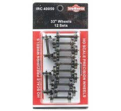 """InterMountain #40050 33"""" All-Brass Insulated Wheelsets (12 sets)"""