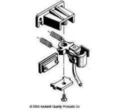 Kadee #781 G-Scale Coupler Centerset Coupler & Medium Offset Coupler with Pilot Pocket Gear Box & Truck Mount Type Gear box