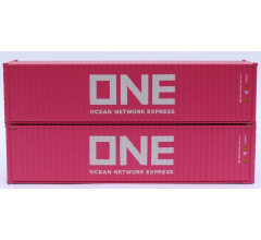 Jacksonville Terminal Company #405173 ONE (TLLU) magenta containers - 40' HIGH CUBE containers with Magnetic system
