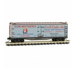 """Micro Trains #04900880 40' Double Sheathed Wood Reefer -Farm-to-Table #12 """"Mothers Cocoa"""""""