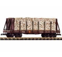 PIKO #38755 PRR Bulkhead Flatcar w/Pulpwood Load