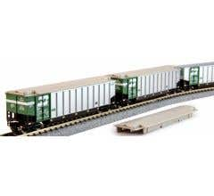 Kato #106-4651 Bethgon Protein Gondola 8-Car Set Burlington Northern #2
