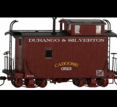 Bachmann #26565 Spectrum On30 Logging Caboose - Durango & Silverton