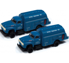 Classic Metal Works #50388 1954 Ford Hi-Rail Maintenance Truck- Dixie Gas Corp (2 Pack)