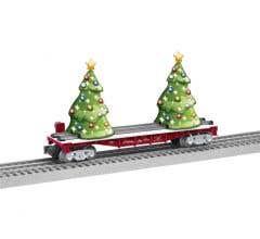 Lionel #2128060 Lighted Christmas Tree Flatcar