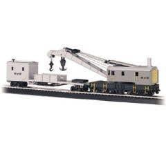 Bachmann #16138 250-Ton Steam Crane & Boom Tender-Maint of Way