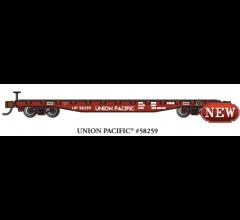 Bachmann #17354  52' FLAT CAR - UNION PACIFIC