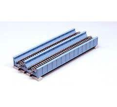 "Kato #20-455 186mm (7 5/16"") Double Track Plate Girder Bridge, Lt Blue"