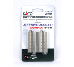 "Kato #20-044 62mm (2 7/16"") Concrete Slab Double Track Straight [2 pcs]"