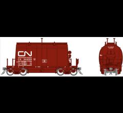 Rapido #143003A HO Short Barrel Ore Hopper- CN Mineral Brown