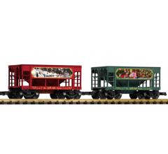 PIKO #38152F2 Christmas Ore Car 2 Pack