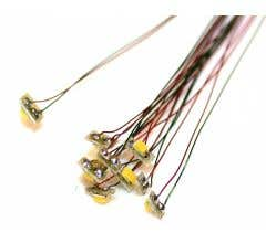 TCS #1323 Sunny White LED's mounted on micro circuit board with magnet wires for easy attachment (10 pack)