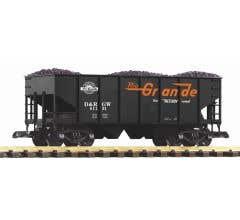 PIKO #38917 D&RGW Rib Sided Hopper w/ Coal Load