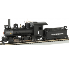 Bachmann #29401 Three Rivers Steel 0-6-0 Steam Locomotive w/DCC and Sound Ready