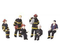 MTH #30-11046 Fire House Employees 6-Piece Figure Set #2