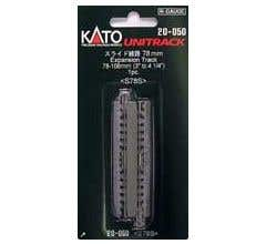 """Kato #20-050 78mm - 108mm (3"""" - 4 1/4"""") Expansion Track [1 pc]"""