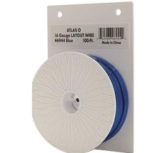 Atlas #6944 Blue (only) 100 Ft 16 Gauge Layout Wire