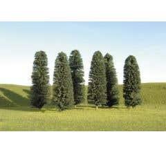"""Bachmann #32205 8"""" - 10"""" Cedar Trees three pieces per pack"""