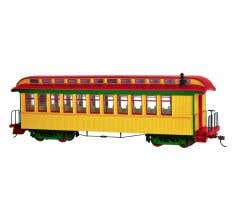 Bachmann #26203 Painted Unlettered Yellow & Red - Coach/Observation w/ Lighted interior