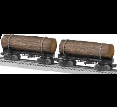 Lionel #1926580 NY & Penna Skeleton Log Car 2 Pack A