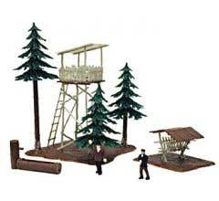 Model Power #644 Built-Ups- Ranger Lookout with Trees