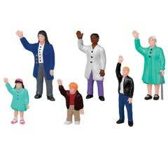 Lionel #1930240 People Waving 6-Pack