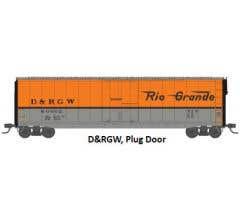 Rivarossi #HR6465D 50' Sliding-Door Boxcar with Roofwalk - Denver & Rio Grande Western #60999