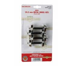 Bachmann #92422 Small Metal Wheel Set (4/card) 24.5mm