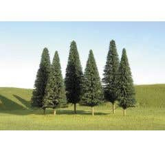"""Bachmann #32001 5"""" - 6"""" Pine Trees (six pieces per pack)"""