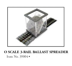 Bachmann #39004 O Gauge 3 Rail Ballast Spreader