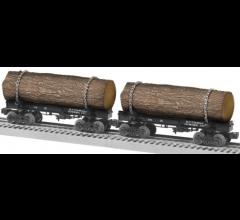 Lionel #1926540 Ely Thomas Skeleton Log Car 2 Pack A