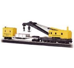 Bachmann #16114 250-Ton Steam Crane & Boom Tender- PRR