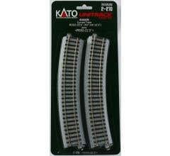 Kato #2-210 21 5/8 R Curve 22.5 Degree Track (4)