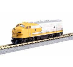 Kato #176-2140 EMD F7A Unit- Santa Fe Yellowbonnet, Freight #9098