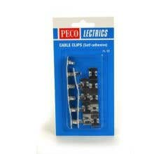 Peco #PL37 Self-Adhesive Cable Clips (20pcs)