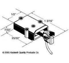 Kadee #804 O-Scale Coupler & Draft Gear Box in black (plastic)
