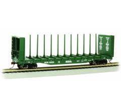 Bachmann #12901 BC Rail Center Beam Flatcar w/Bulkheads