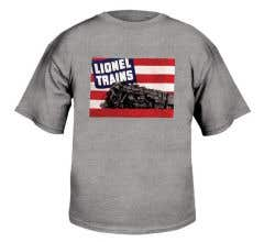 Lionel #9FGA658SM Adult Gray T-Shirt with 1942 Lionel Catalog Cover (Size Small)