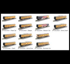 Kato #106-086 Union Pacific Excursion Train Seven Car Set