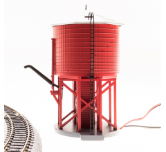 Broadway Limited #6130 Operating Water Tower w/ Sound Unlettered Barn Red Non-weathered