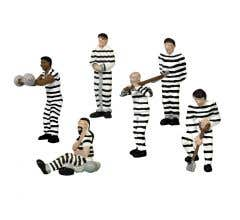 Lionel HO #1957170 Prison Work Crew- Stripes