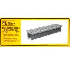 Micro Engineering HO #75-507 50' Ballasted Deck Girder Bridge Kit