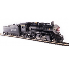 Broadway Limited #4760 ATSF 4000 Class 2-8-2 #4018 w/ road pilot Oil Tender Paragon4 Sound/DC/DCC HO