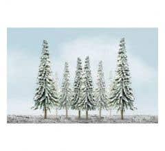 "JTT #92006 Snow Pine Tree Bulk Pack - 2""- 4"" (36pcs)"