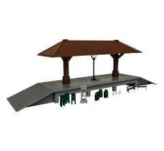 Lionel HO #1967210 Station Plaza Kit