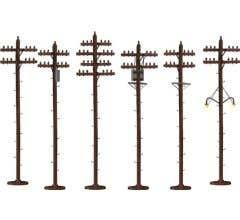 American Flyer #49872 S-Scale Telephone Poles