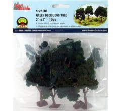 "JTT #92130 Green DeciduousTrees - 2""-3"" High (10/pk)"